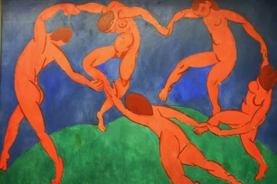 La danza, Henri Matisse (1909) / Museo Hermitage, San Petersburgo (Rusia).