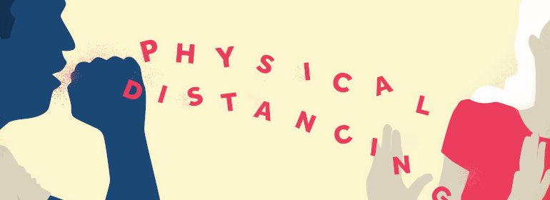 Physical Distancing. Image created by Kyle Mueller. Submitted for United Nations Global Call Out To Creatives - help stop the spread of COVID-19.